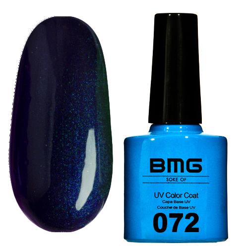 картинка Гель-лак BMG – Сине-черный с ярко синим микроблеском от магазина Gumla.ru