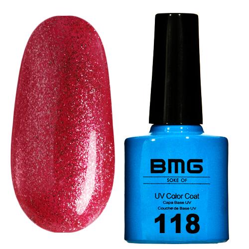 картинка Гель-лак BMG – Малиново-красный с малиново-золотым шимером от магазина Gumla.ru