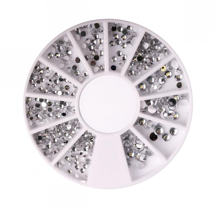 картинка Стразы пластик серебро в карусельке от магазина Gumla.ru