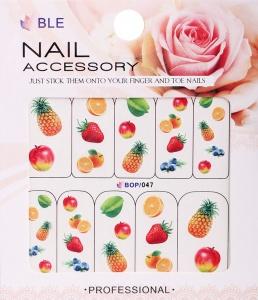 картинка Наклейки для ногтей водные широкие BOP-047 магазин Gumla.ru являющийся официальным дистрибьютором в России