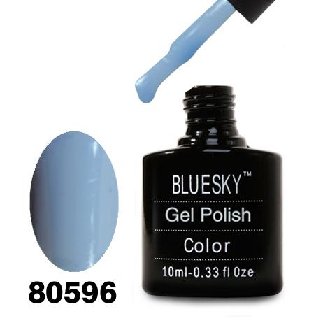 картинка Гель лак Bluesky 80596-Пастельный небесно-голубой, эмалевый от магазина Gumla.ru