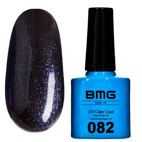 картинка Гель-лак BMG – Сизо-черный с голубым и малиновым микроблеском от магазина Gumla.ru