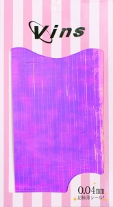 картинка Лента для дизайна (Фиолетовые полоски голографик) магазин Gumla.ru являющийся официальным дистрибьютором в России