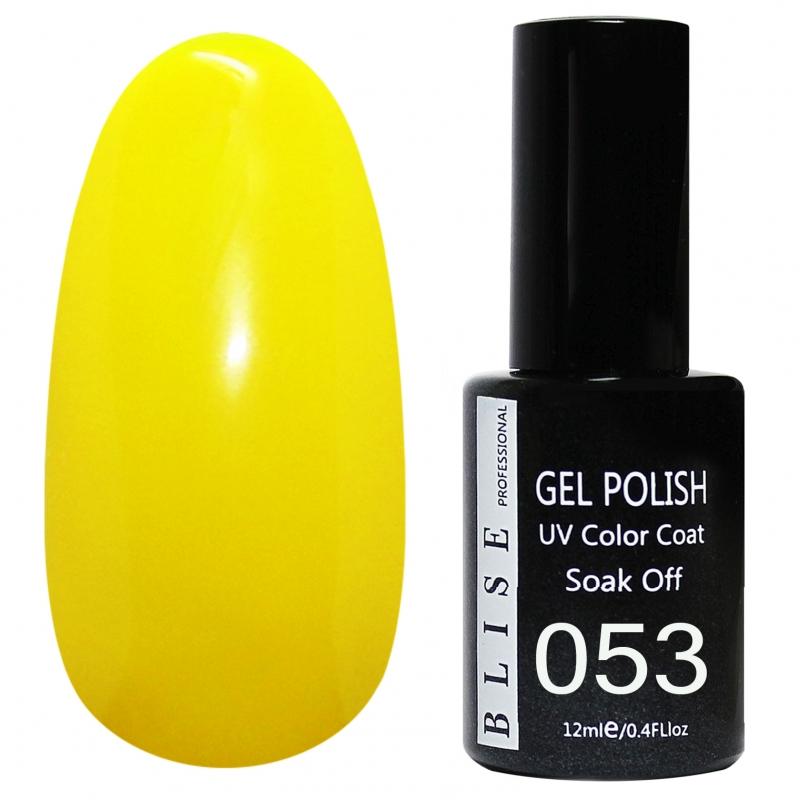 картинка Гель-лак BLISE 053- Желтый, плотный от магазина Gumla.ru