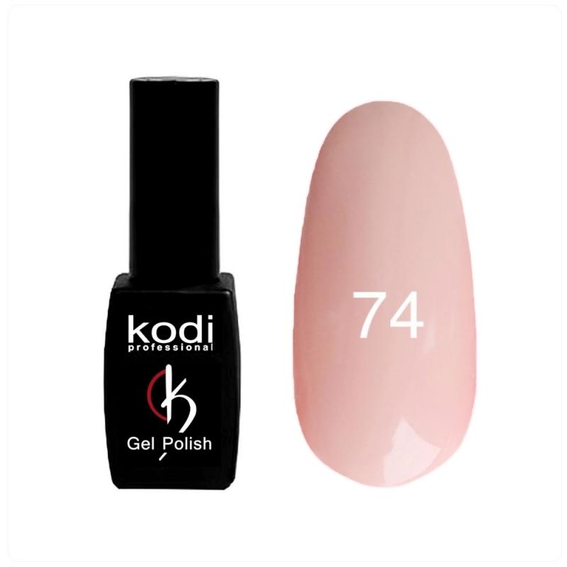 картинка Гель- лак Kodi - №074- персиково-розовый,плотный 8ml от магазина Gumla.ru