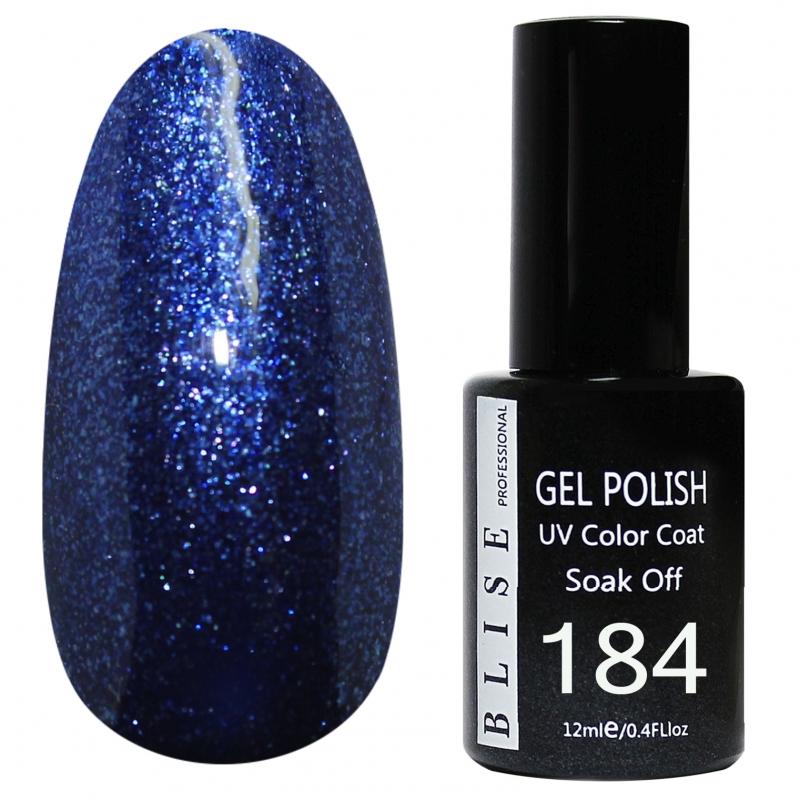 картинка Гель-лак BLISE 184- Ультрамариновый с блестками от магазина Gumla.ru