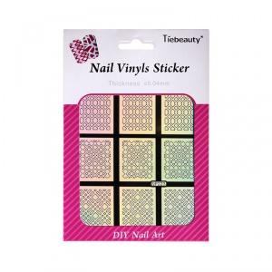 картинка Tiebeauty- Виниловые трафареты для ногтей NF-223 магазин Gumla.ru являющийся официальным дистрибьютором в России