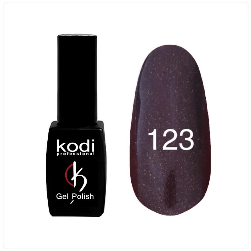 картинка Гель- лак Kodi - №123- темный баклажан с перламутром 8ml от магазина Gumla.ru