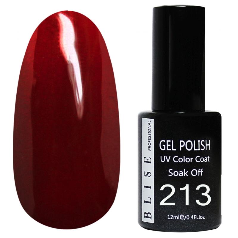 картинка Гель-лак BLISE 213-Приглушенно-крано-бордовый, плотный от магазина Gumla.ru