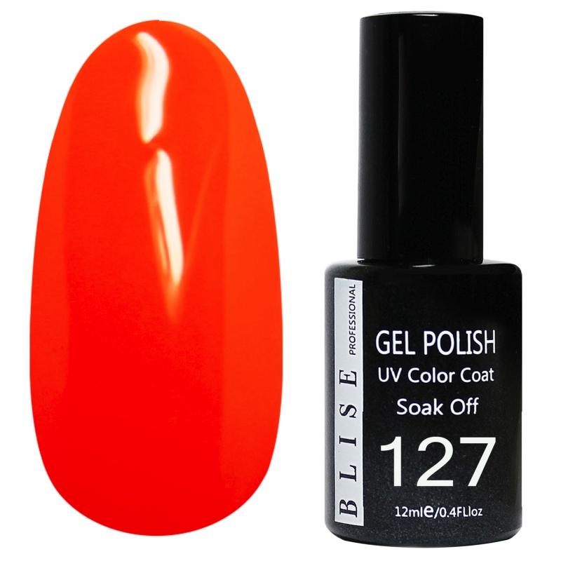 картинка Гель-лак BLISE 127- Яроко-темно-оранжевый от магазина Gumla.ru