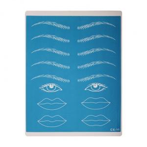 картинка Тренировочный коврик (Брови,глаза,губы синий) магазин Gumla.ru являющийся официальным дистрибьютором в России