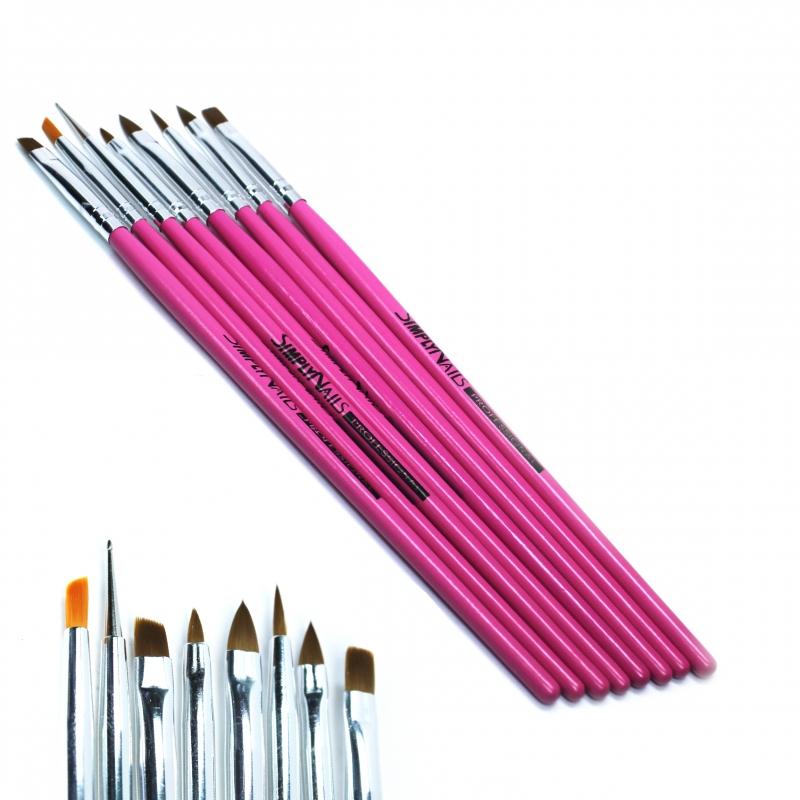 картинка Набор: кистей для росписи - SimplyNails 8 шт. от магазина Gumla.ru