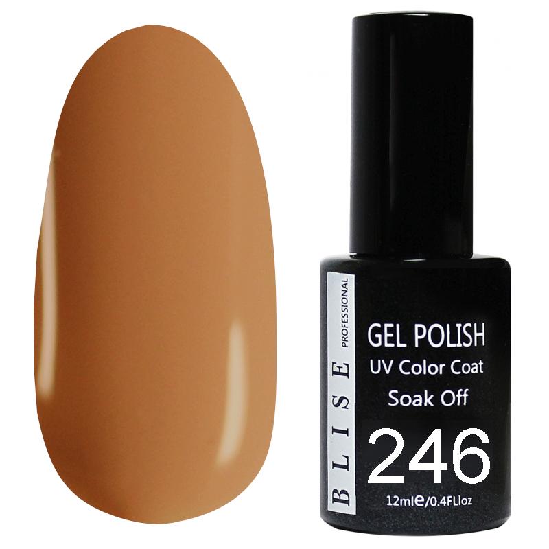 картинка Гель-лак BLISE 246- Розово-коричневый,плотный от магазина Gumla.ru