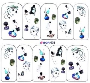 картинка Наклейки для ногтей водные широкие BOP-036 магазин Gumla.ru являющийся официальным дистрибьютором в России