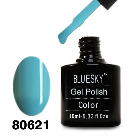 картинка Гель лак Bluesky 80621-Бирюзовый эмалевый плотный от магазина Gumla.ru