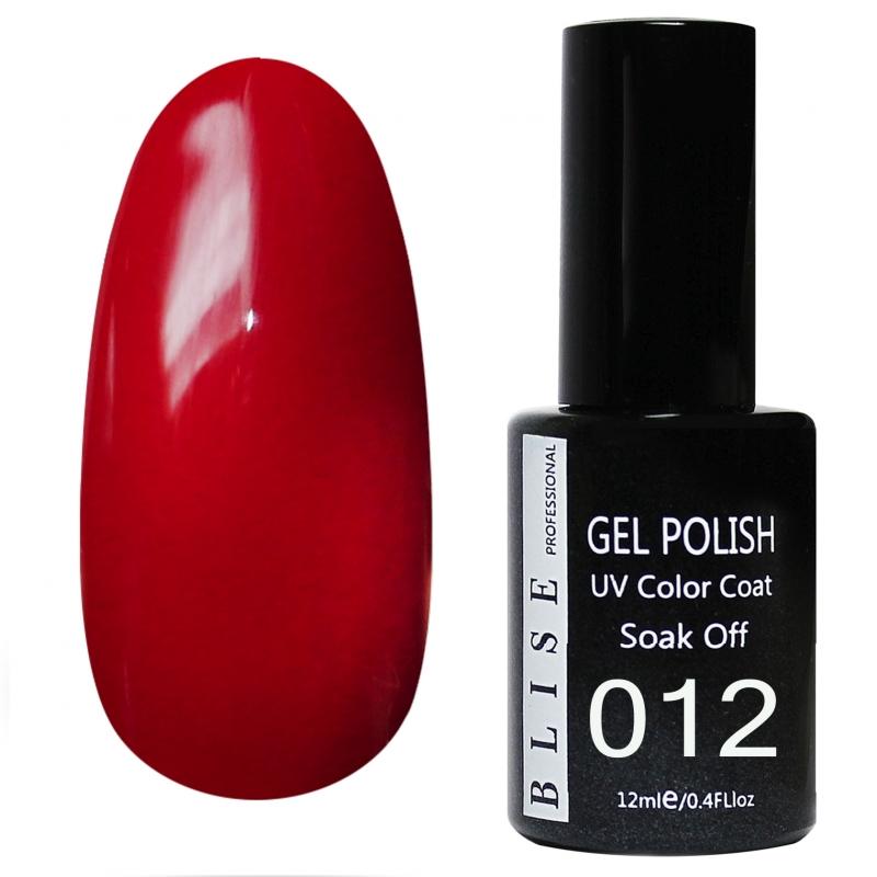 картинка Гель-лак BLISE 012- Красный классический, плотный от магазина Gumla.ru