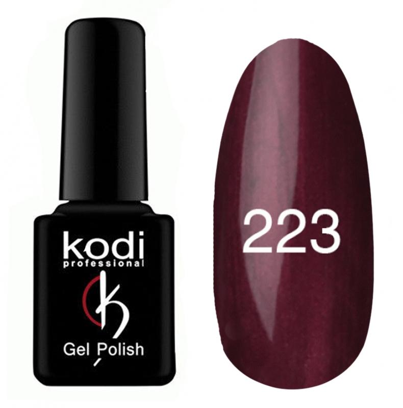 картинка Гель- лак Kodi - №223-Тёмно-бордовый 8ml от магазина Gumla.ru