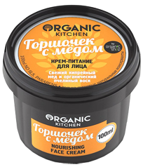 """картинка Organic Kitchen - Крем-питание для лица """"Горшочек с медом"""" 100 мл от магазина Gumla.ru"""