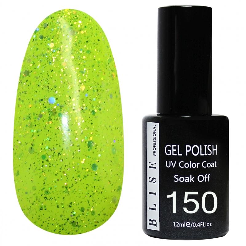 картинка Гель-лак BLISE 150- Лимонно-желный, полупрозрачный с блестками от магазина Gumla.ru