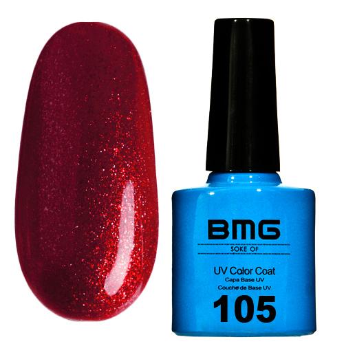 картинка Гель-лак BMG – Винно красный с бордовым шимером от магазина Gumla.ru