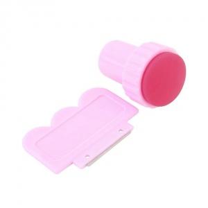 картинка Набор для стемпинга штамп+скребок розовый магазин Gumla.ru являющийся официальным дистрибьютором в России