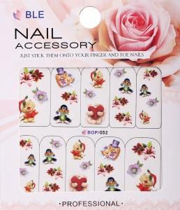 картинка Наклейки для ногтей водные широкие BOP-052 магазин Gumla.ru являющийся официальным дистрибьютором в России