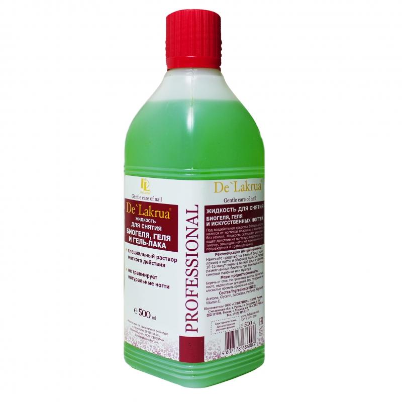 картинка De'Lakrua-Жидкость для снятия биогеля 500 мл. от магазина Gumla.ru