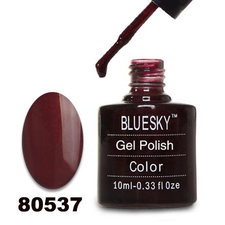 картинка Гель лак  Bluesky 80537-Темно-бордовый с микроблестками от магазина Gumla.ru
