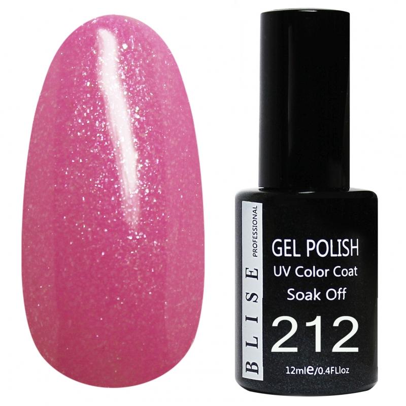 картинка Гель-лак BLISE 212-Лилово-розовый с микроблеском, плотный от магазина Gumla.ru