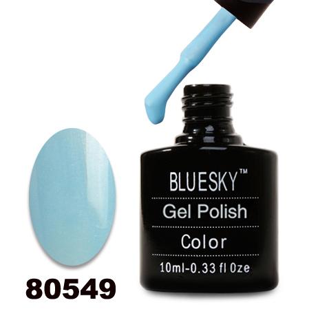 картинка Гель лак  Bluesky 80549-Голубой с микроблеском от магазина Gumla.ru