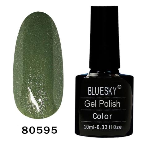 картинка Гель лак  Bluesky 80595-Грязно-зеленыйсеребрянными микроблестками от магазина Gumla.ru