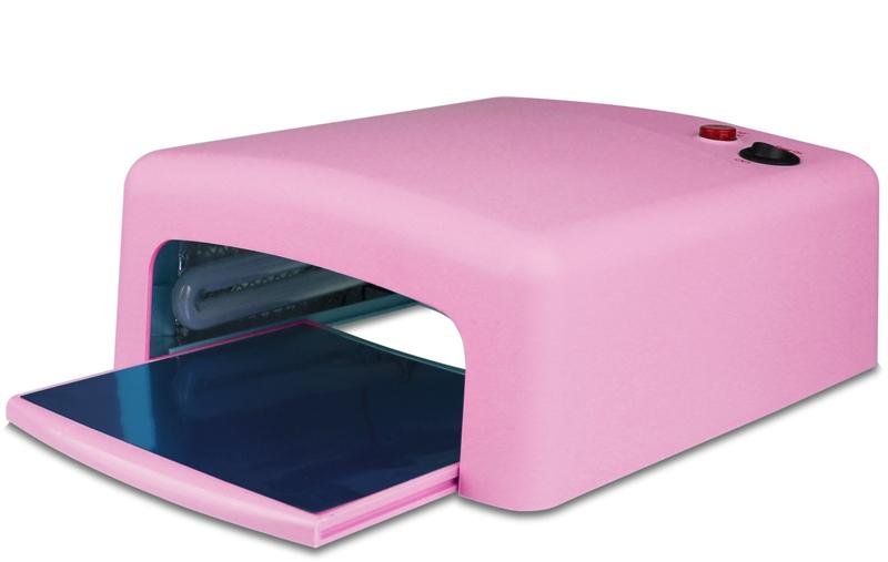картинка Лампа УФ (36 Вт. Таймер: 2 режима) - Розовая (матовая поверхность) от магазина Gumla.ru