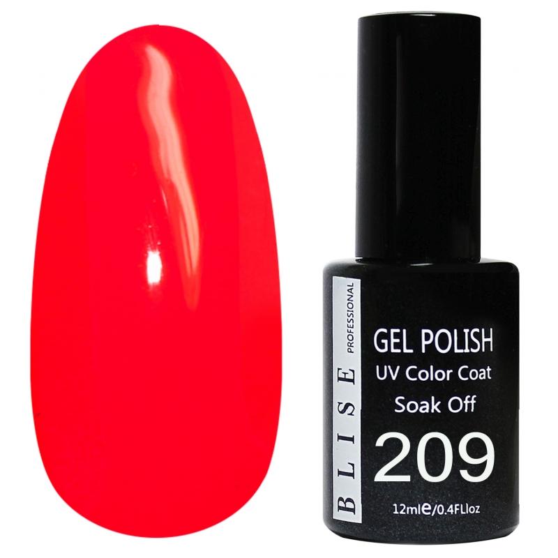 картинка Гель-лак BLISE 209- Кораллово-красный,плотный от магазина Gumla.ru