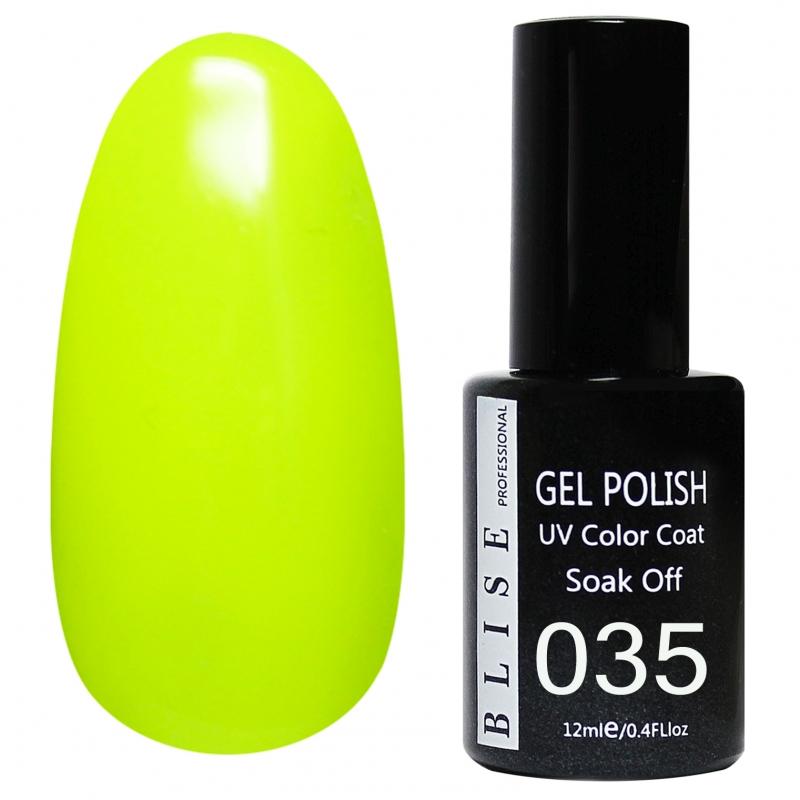 картинка Гель-лак BLISE 035- Неоново-желтый от магазина Gumla.ru