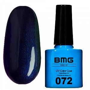 картинка Гель-лак BMG – Сине-черный с ярко синим микроблеском магазин Gumla.ru являющийся официальным дистрибьютором в России