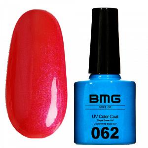 картинка Гель-лак BMG – Красно-кораловый с голубым перломутровым отблеском магазин Gumla.ru являющийся официальным дистрибьютором в России