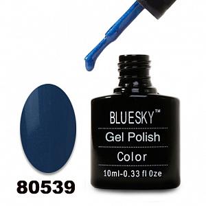 картинка Гель лак  Bluesky 80539-Темно-синий с микроблеском магазин Gumla.ru являющийся официальным дистрибьютором в России