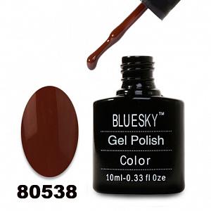 картинка Гель лак  Bluesky 80538-Темно-коричневый,эмалевый магазин Gumla.ru являющийся официальным дистрибьютором в России