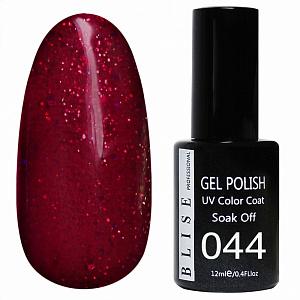 картинка Гель-лак BLISE 044- Светло-бордовый с блестками магазин Gumla.ru являющийся официальным дистрибьютором в России