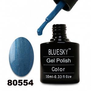 картинка Гель лак  Bluesky 80554-Синий перламутровый магазин Gumla.ru являющийся официальным дистрибьютором в России