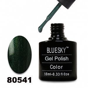 картинка Гель лак  Bluesky 80541-Темно-изумрудный с микроблеском магазин Gumla.ru являющийся официальным дистрибьютором в России