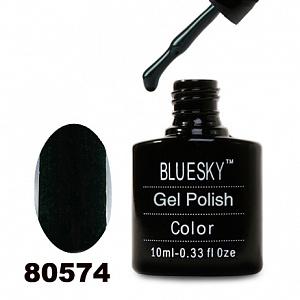 картинка Гель лак  Bluesky 80574-Темно-зеленый с микроблеском,плотный магазин Gumla.ru являющийся официальным дистрибьютором в России