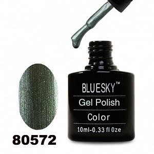 картинка Гель лак  Bluesky 80572-Болотно-зеленый,перламутровый с микроблеском магазин Gumla.ru являющийся официальным дистрибьютором в России