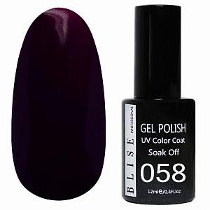 картинка Гель-лак BLISE 058- Глубокий,темно-лиловый магазин Gumla.ru являющийся официальным дистрибьютором в России