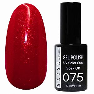 картинка Гель-лак BLISE 075- Красный с микроблеском магазин Gumla.ru являющийся официальным дистрибьютором в России