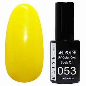 картинка Гель-лак BLISE 053- Желтый, плотный магазин Gumla.ru являющийся официальным дистрибьютором в России