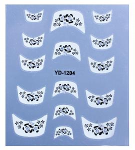 картинка Наклейки на ногти 1204 магазин Gumla.ru являющийся официальным дистрибьютором в России