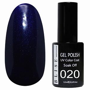 картинка Гель-лак BLISE 020- Насыщенно темно-синий с микроблеском магазин Gumla.ru являющийся официальным дистрибьютором в России