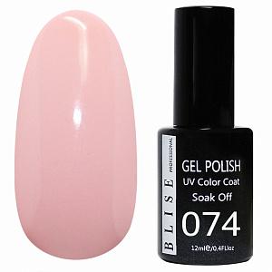 картинка Гель-лак BLISE 074- Нежно -розовый,плотный магазин Gumla.ru являющийся официальным дистрибьютором в России
