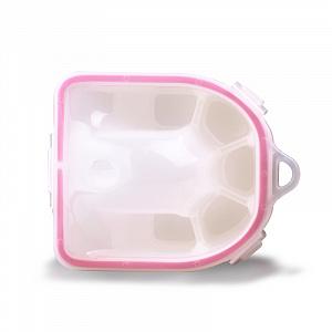 картинка Ванночка для маникюра (бело-розовая) магазин Gumla.ru являющийся официальным дистрибьютором в России